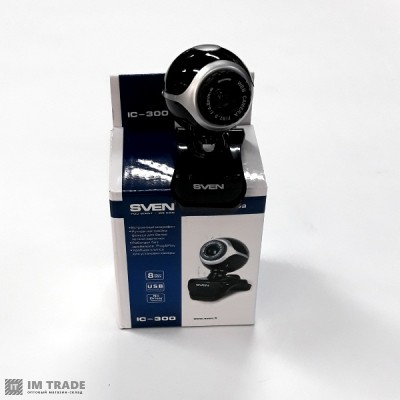 WEB камера SVEN IC-300web Black, 1.3Mp dinamic/0.35Mp CMOS, USB, микрофон