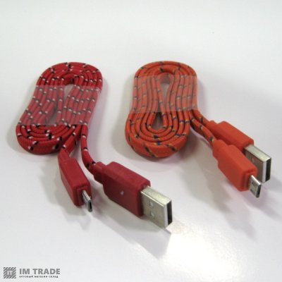 Кабель USB / micro USB ( тканевая оплетка)