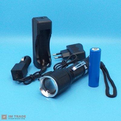 фонарик BL-1860-T6 +ЗУсеть zoom 5реж