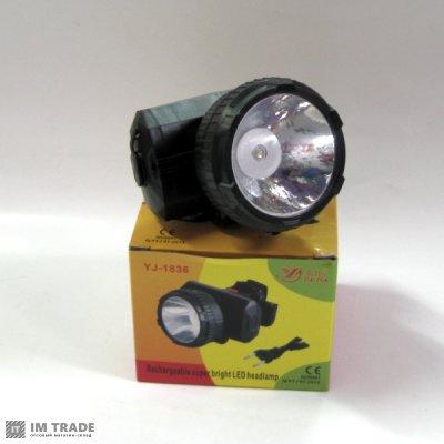 фонарик  на лоб  Yajia YJ-1836 1 LED