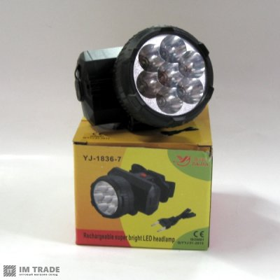 фонарик  на лоб  Yajia YJ-1836 7 LED