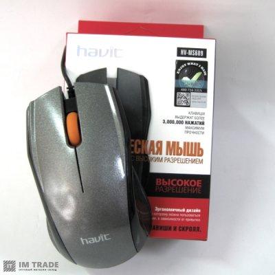 Мышка  HAVIT HV-MS 689  USB, grey