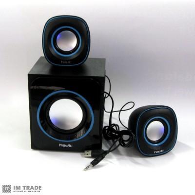 колонки  HAVIT HV-SK450 USB, black+blue