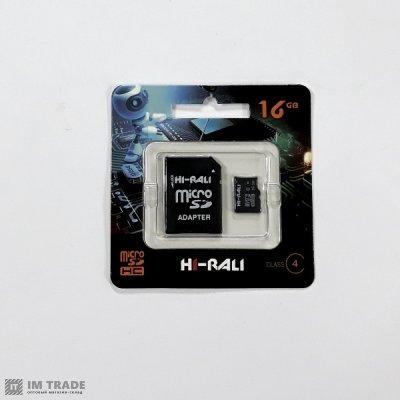Карта памяти 16 Gb microSDHC, HI-RALI, Class4