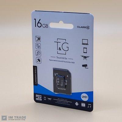 Карта памяти 16 Gb microSDHC, TNG class 10 (с адаптером)