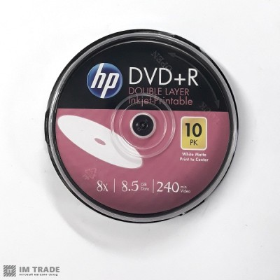 DVD+R  HP (Printeble)  8.5 Gb  8 Х