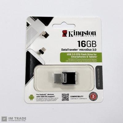 USB Flash Drive 16 Gb Kingston 3.0 DT MicroDuo OTG+USB