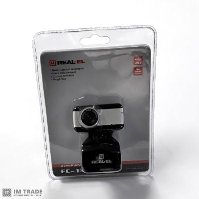 WEB камера REAL-EL FC-130 Black 1.3Mp