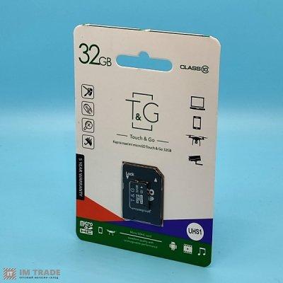 Карта памяти 32 Gb microSDHC, TNG class 10 (с адаптером)