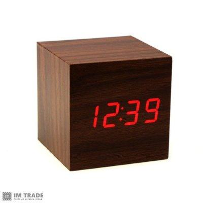 """Часы """"Деревянный куб"""""""