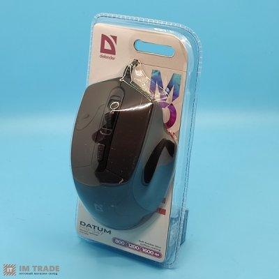 Миша Defender Datum MB-347, Black, USB, оптическая, 800/1200/1600 dpi, 4 кнопки, 1.5 м