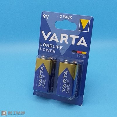 6LR61 VARTA  Long Life Power (уп 20 щт)