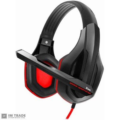 наушники Gemix   X-340 Black/Red, микрофон, игровая гарнитура