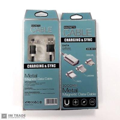 Кабель USB / micro USB с магнит. Braid