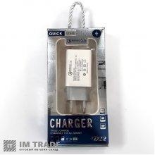 Переходник USB/220 AR-QC-02 (Quick charge) 5V- 2.4A, 9V-1.8A, 12V-1.5A