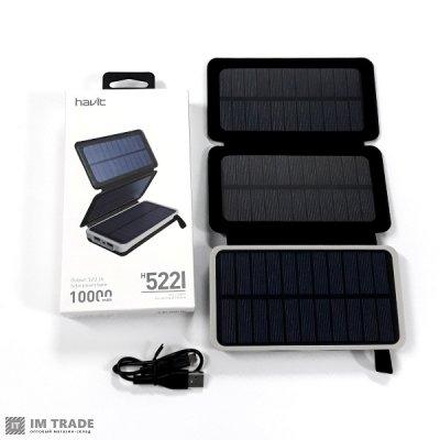 Банк заряда HAVIT HV-H522I 10000 mAh (на солнечной батарее)