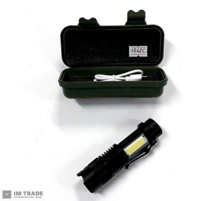 фонарик BL-1812C-XPE+COB 720000W