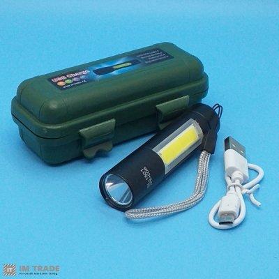 фонарик BL-510-XPE+COB ЗУ USB 3реж