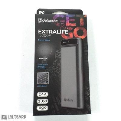 Банк заряда Defender Extra Life 15000mAh 2USB(2,1A)