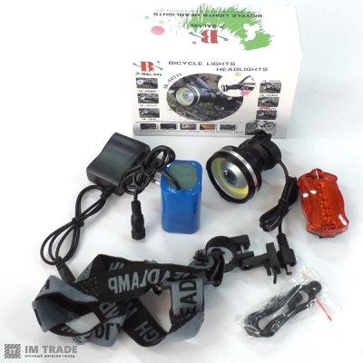 фонарик  на велос. BL-B031-COB+LM 320000W ЗУсеть 3р