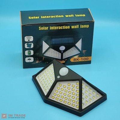 Светильник уличн свет CL-100 LED , solar, датчик движ, дачт света