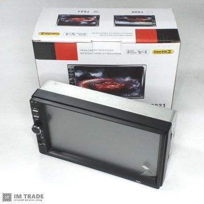 Автомагнитола  2DIN  7 дюймов, MP5, 6-ю выходами, Bluetooth, USB, FM, AUX 7021