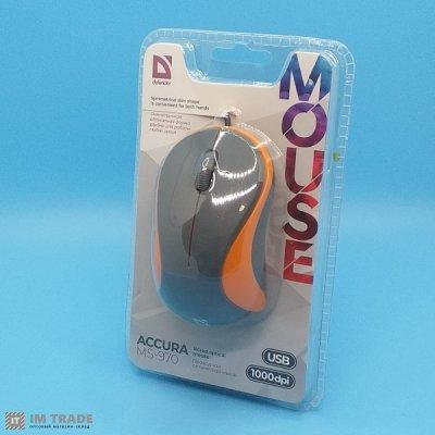 Миша Defender Accura MS-970 USB grey/orange