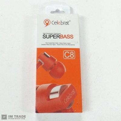 Гарнитура  Celebrat C8 red+mic