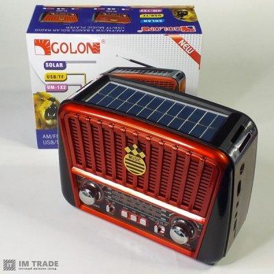 порт. колонк GOLON GOLON RX-455S солнечн.панель (красный)