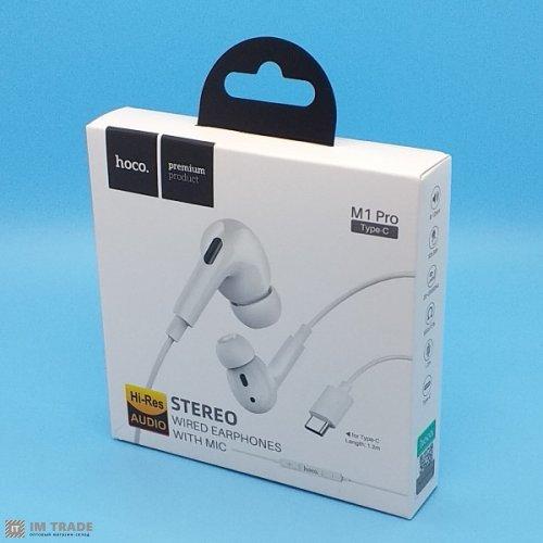 Гарнитура HOCO M1 Pro Type-c гарнитура black