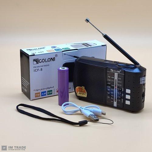 порт. колонк GOLON ICF-8, USB, АКБ 18650
