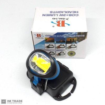 фонарик  на лоб BL-536-COB 5W 6SMD 1 реж 3AA