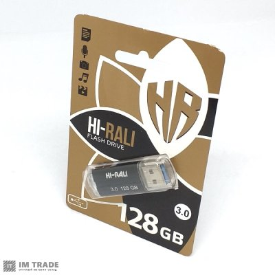 USB Flash Drive 128GB Hi-Rali Corsar серія чорний 3,0