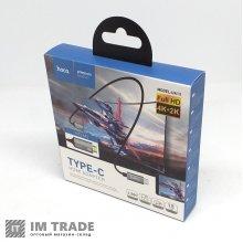 кабель Type-C to HDMI  HOCO UA13  1,8m, gray