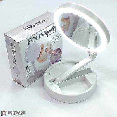 Зеркало для макияжа с LED подсветкой FOLD AWAY XW-803