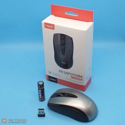 Мышка  HAVIT  HV-MS858GT black+gray (безпров.)