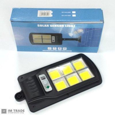 Светильник уличн свет 7498 (BK-120) 6COB, solar,датчик движ,дачт света