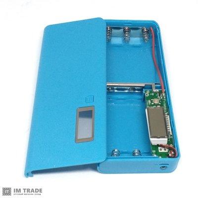 Банк заряда BOX на 5 аккумуляторов 18650 2хUSB+microUSB 2А LCD экран (без аккумуляторов)