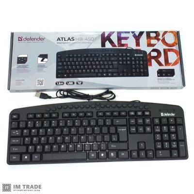 Клавиатура Defender Atlas HB-450 RU, black