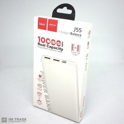 Банк заряда HOCO J55 Neoteric 10000mAh 2USB (2A) white +Type-C